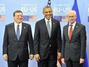 Comienza cumbre entre UE y EEUU con crisis ucraniana y espionaje de fondo