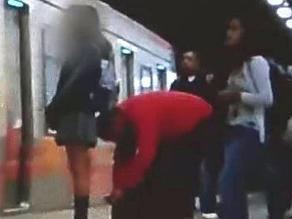 Detienen a chileno cuando grababa ropa interior de escolar en metro