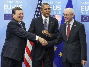 Obama afirma que UE y EEUU están juntos en determinación de aislar a Rusia