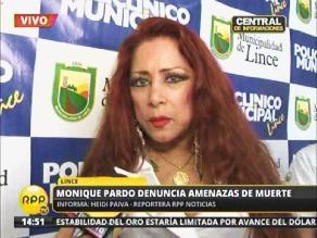 Monique Pardo denuncia amenazas de muerte en Twitter
