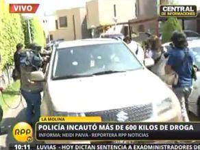 Son llevados a la Dirandro los supuestos narcotraficantes de La Molina