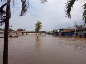 Desborde de ríos preocupan y afectan a pobladores de la selva del país