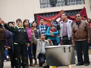 Huancayo: trabajadores del Poder Judicial realizan olla común