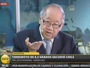 Kuroiwa: Terremoto del 2010 en Chile fue 15 veces más potente