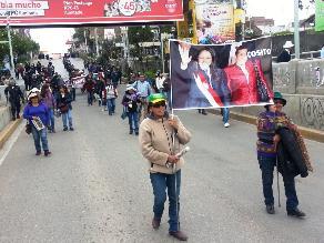 Huancayo: cientos de trabajadores judiciales marchan por la calle Real