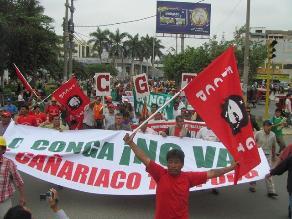 Próximo 7 de abril reanudarán protestas contra proyecto minero Conga