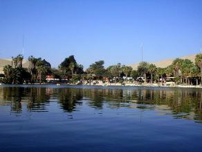 Ica: reportan descenso del nivel de agua en laguna de Huacachina