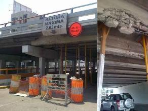 Peligro latente por puente dañado de la avenida Brasil
