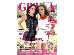 Rebeca Escribens y Fernanda Kanno en portada de la revista Gisela