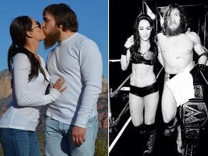 Daniel Bryan celebra triunfo en WrestleMania con su novia Brie Bella
