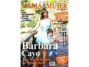 Bárbara Cayo en portada de la revista Soy mamá y mujer