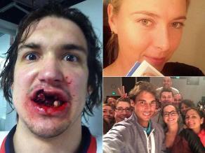Famosos deportistas se unen a la moda del selfie