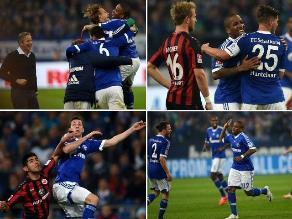 Así fue el regreso con gol de Farfán a la Bundesliga en el Schalke-Frankfurt