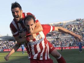 Atlético vence a Getafe y da un paso más hacia título de la Liga española