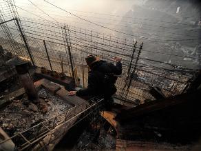 Desolación y escombros: lo que dejó a su paso el incendio en Valparaíso