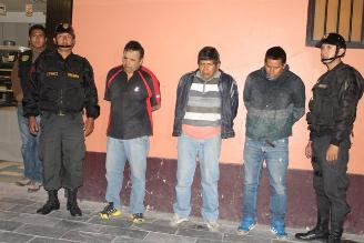 Ayacucho: capturan a 7 presuntos asaltantes cuando intentaban robar