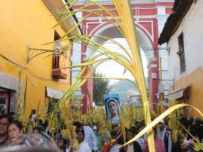 Ayacucho: Miles de fieles recorrieron las calles en Domingo de Ramos