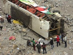 Áncash: despiste de bus interprovincial deja 9 muertos en Sihuas