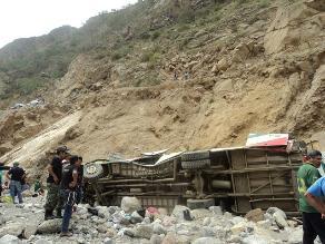 Áncash: identifican a los 9 muertos en despiste de bus interprovincial