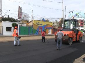 Trujillo: Reinician asfaltado de avenida Mansiche