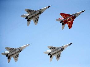 FAP exhibe aviones militares durante Festival Aerodeportivo en Chiclayo