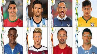FIFA te da a elegir al mejor jugador de Brasil 2014 a través de figuritas