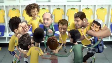 Figuras de selección brasileña aparecen en divertido comercial animado