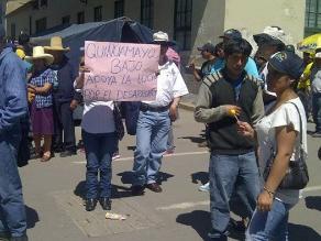 Comuneros de Michiquillay protestan contra minera Angloamerican