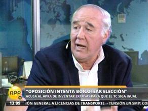 García Belaunde: Oposición intenta boicotear elección de miembros del TC