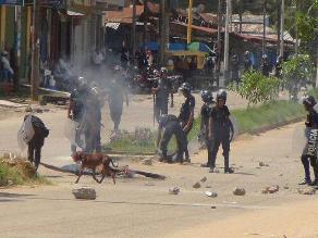 Madre de Dios: 3 policías y 2 civiles heridos en enfrentamiento por gas