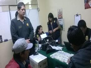 Huaraz: efectivos policiales frustran asalto y recuperan 300 mil dólares
