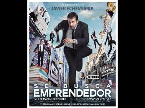 Javier Echevarría presenta unipersonal Se busca emprendedor