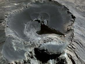 Imágenes aéreas del Ubinas, volcán más activo del Perú