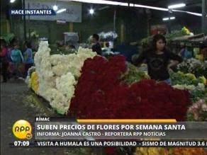 Aumenta demanda de flores por Semana Santa
