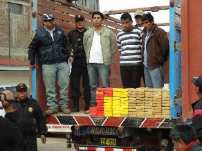 Huancayo: incautan más de 90 kilos de clorhidrato de cocaína