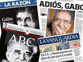Medios informan sobre la muerte de Gabriel García Márquez