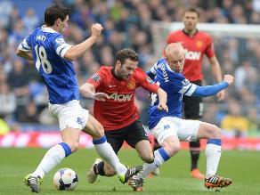 Everton derrotó al Manchester United que se aleja de los puestos de Champions