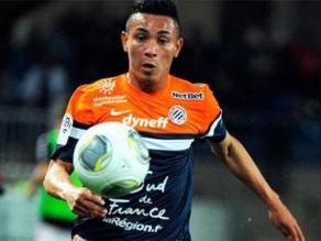 Jean Deza anotó su primer gol en el empate del Montpellier 4-4 ante Lorient
