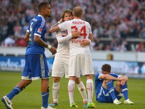 Schalke sin Farfán cayó ante Stuttgart y se aleja del subcampeonato