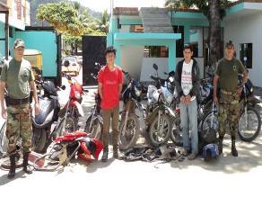 Satipo: Policía recuperó 8 motocicletas robadas en Semana Santa