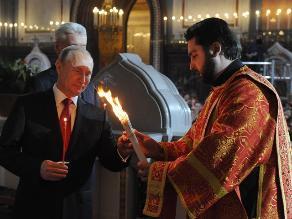 El presidente Putin felicita a los ortodoxos por la Pascua