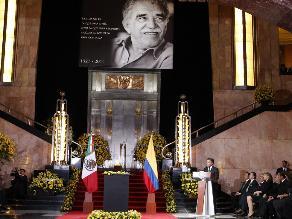 Presidentes de México y Colombia encabezaron homenaje a Gabo