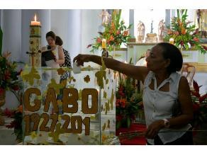 Aracataca despide con vallenatos y flores amarillas a su hijo Nobel