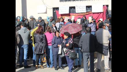 Huancayo: sede judicial amanece con resguardo policial