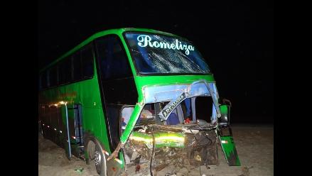 Ica: cinco muertos deja choque frontal en Ocucaje