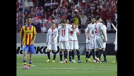 Sevilla toma ventaja ante Valencia en las semifinales de la Europa League