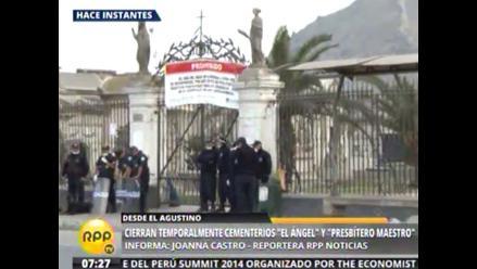 Cierran cementerios Presbítero Maestro y El Ángel para prevenir el dengue