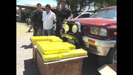 Áncash: más de 400 kilos de hoja de coca incautados y ocho detenidos