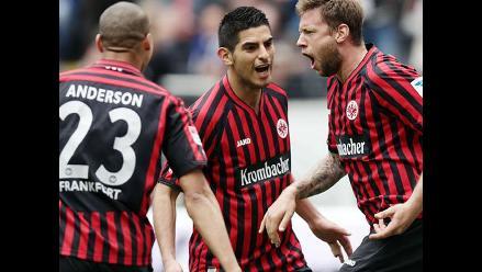 Frankfurt con Carlos Zambrano empató de visita ante Hoffenheim