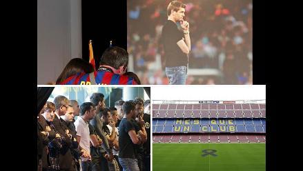 Jugadores e hinchas del Barcelona FC acuden a exequias de Tito Vilanova